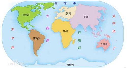 世界地图简笔画线条